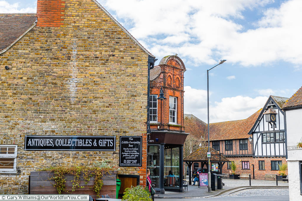 A view of the historic centre of Sandwich from 'No Name Street'