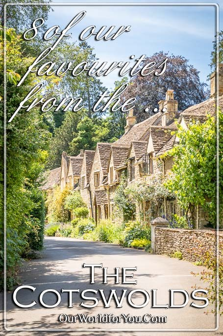 The Pin image for our post - '8 of the Cotswolds finest, England'