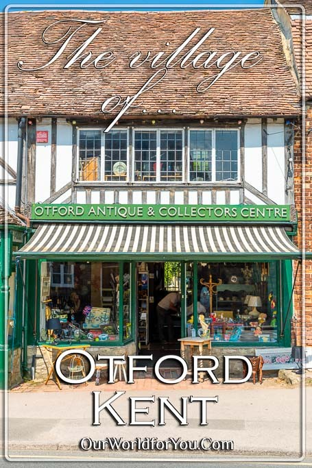 The Pin image of our post - 'A delightful visit to the village of Otford in Kent'