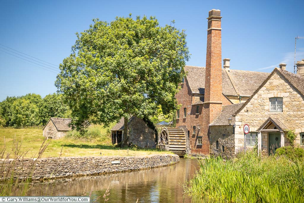 A watermill on the River Eye in Lower Slaughter in the Cotswolds
