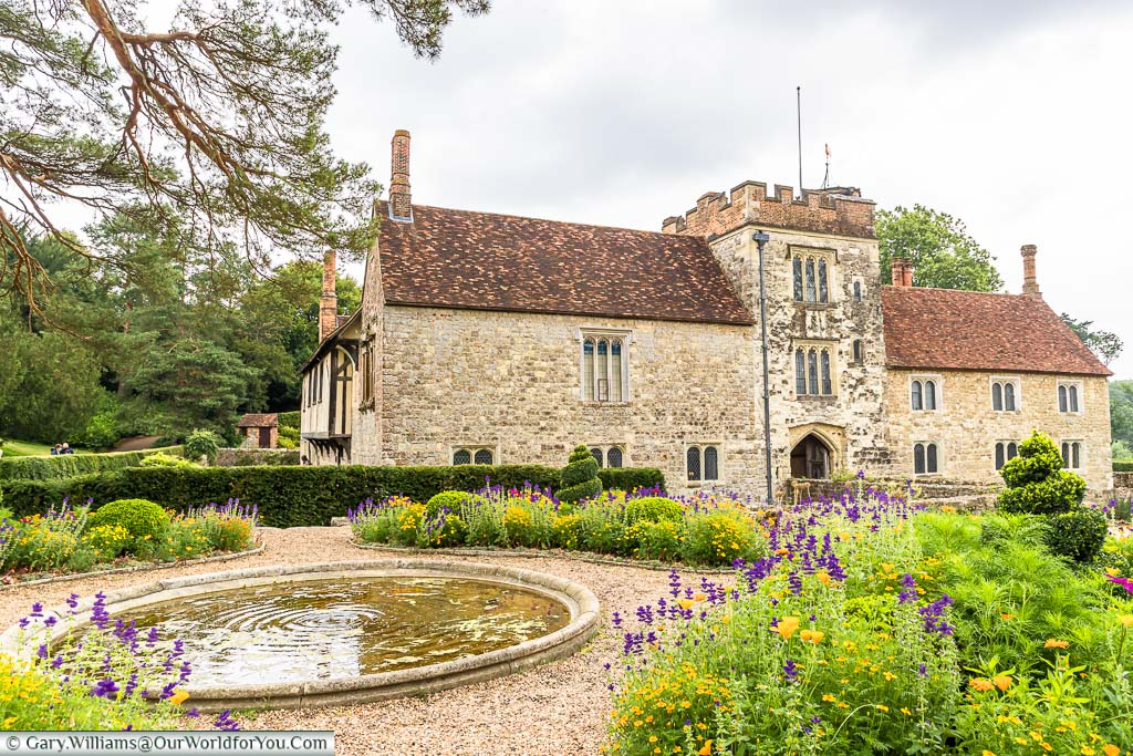 The pond in the centre of the 'Formal Garden' of Ightham Mote in Kent