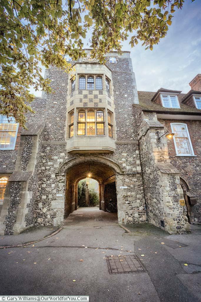 A gatehouse in King's School, Canterbury