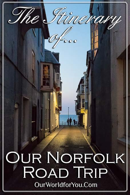 The pin image for our post - 'Our Norfolk Road Trip – The Itinerary'