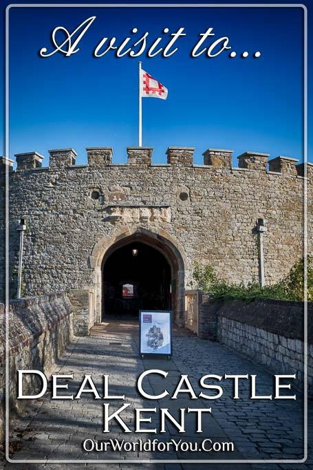 The pin image for our post - 'Our visit to Deal Castle, Deal, Kent, England, UK'