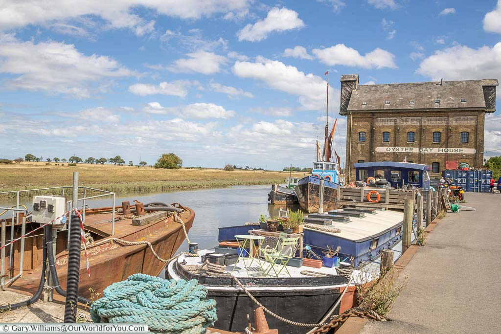 The old brick Oyster Bay House on Standard Quay in Faversham, Kent