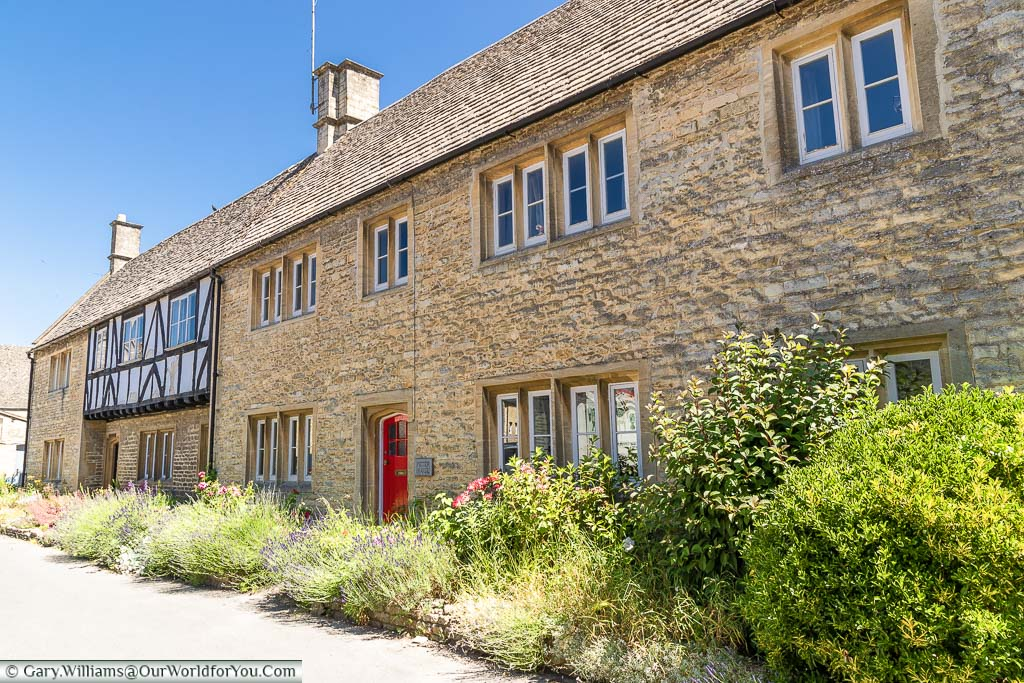 Historic Cotswold stone building in Northleach