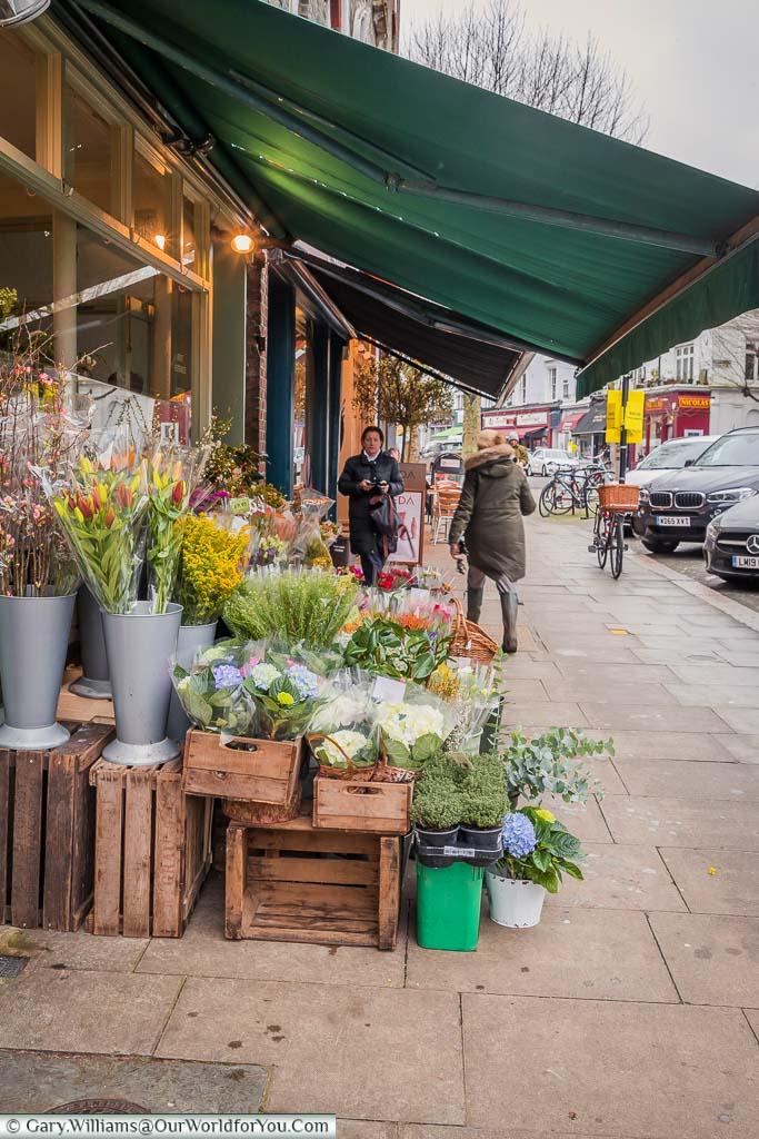 A florist's shop in Regent's Park Road, Primrose Hill