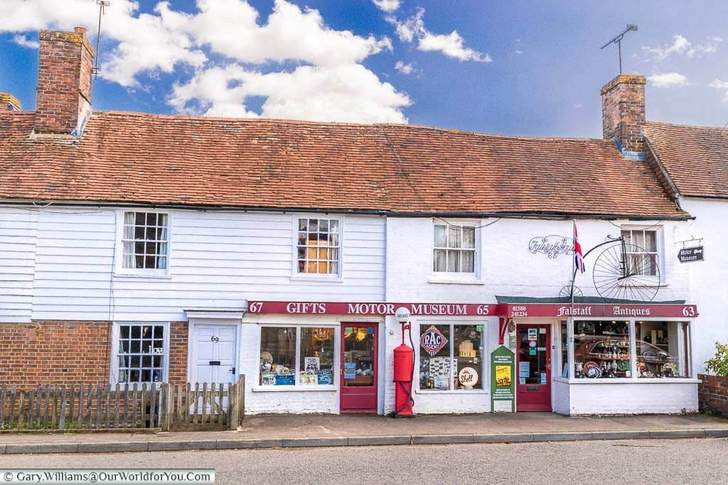 The Rolvenden motor museum also incorporating a gift shop alongside the village antique shop. This bijoux little museum is something to do on your Kentish road trip.