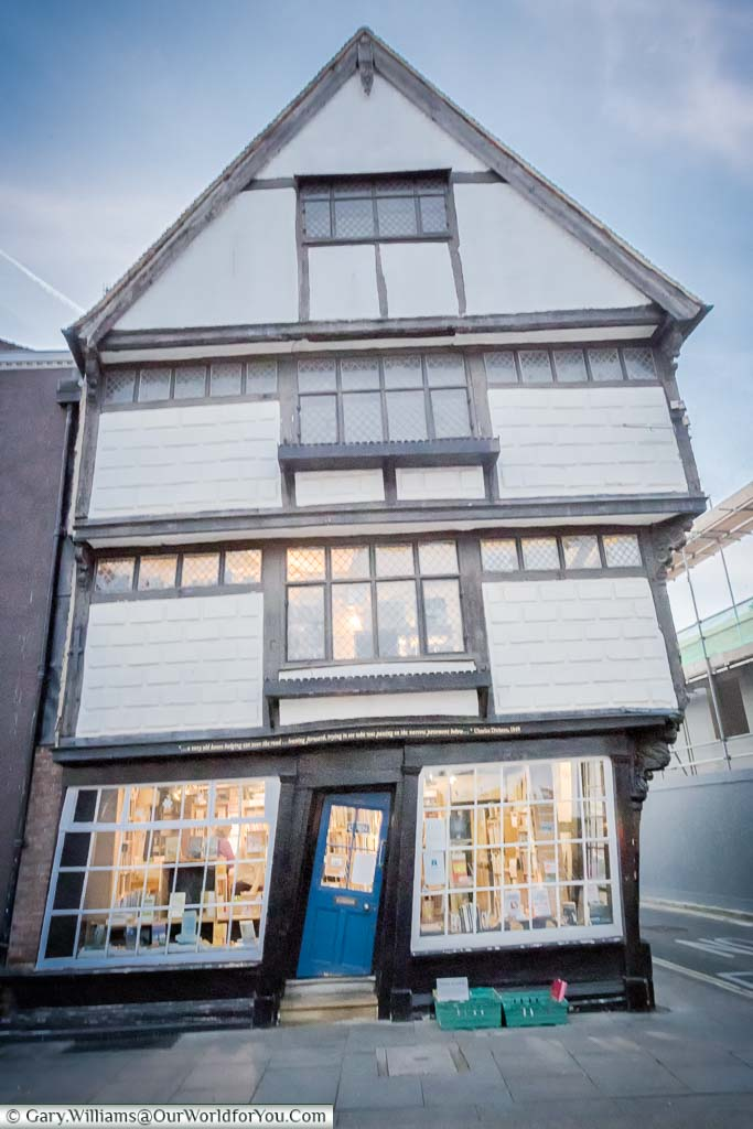 A crooked 17th-century shop on the King's Mile in Canterbury