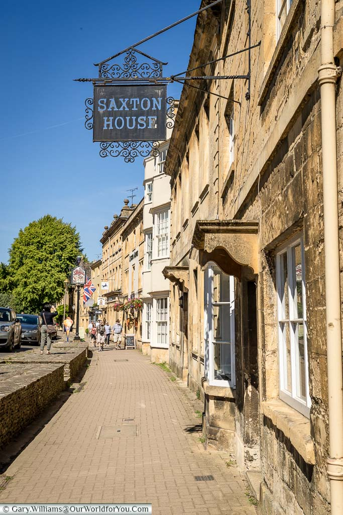 Looking along the high street of Chipping Campden in the Cotswolds