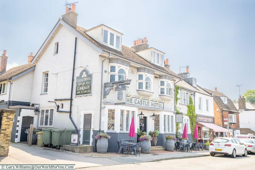 The Castle Hotel on the High Street in Eynsford