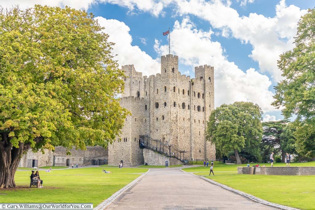 """Featured image for """"Visiting Rochester Castle, Kent, UK"""""""