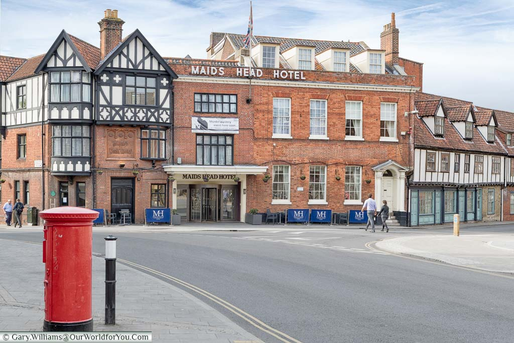 The traditional Maids Head Hotel in Norwich