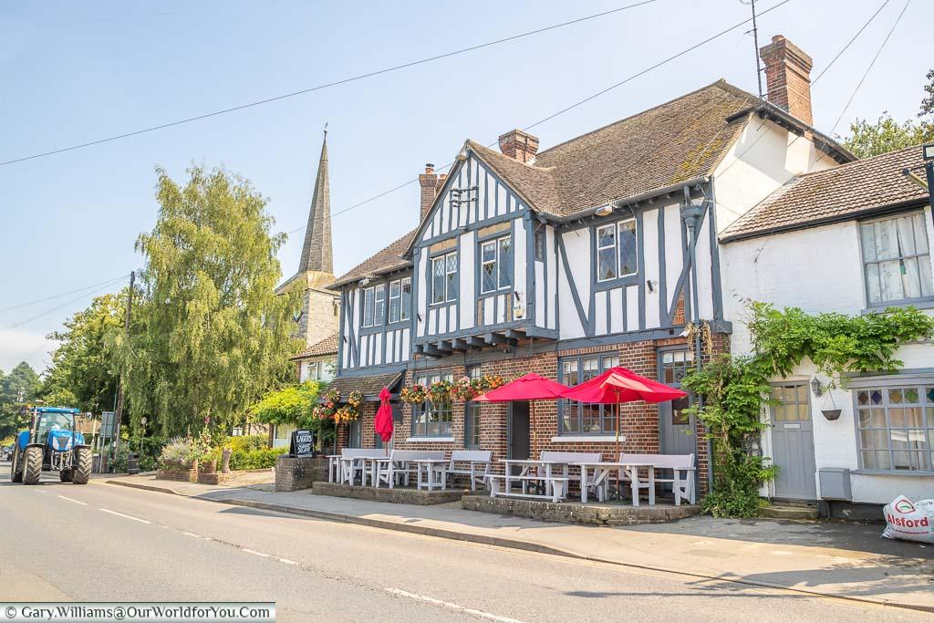 The historic Malt Shovel pub on Station Road in Eynsford