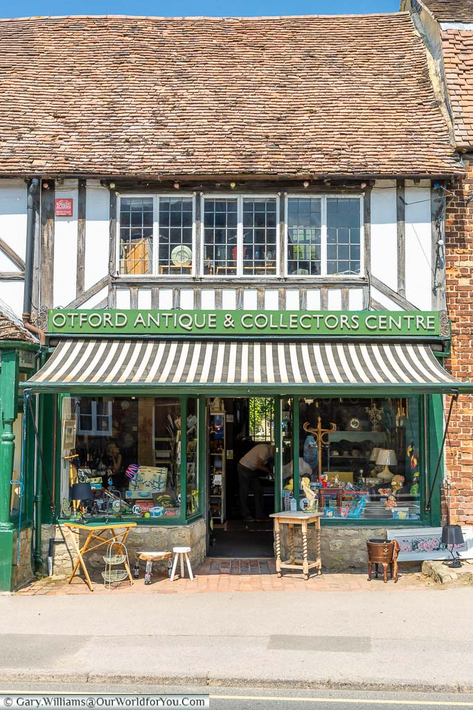 The Otford Antique & Collectors Centre set in a historic building on Otford High Street