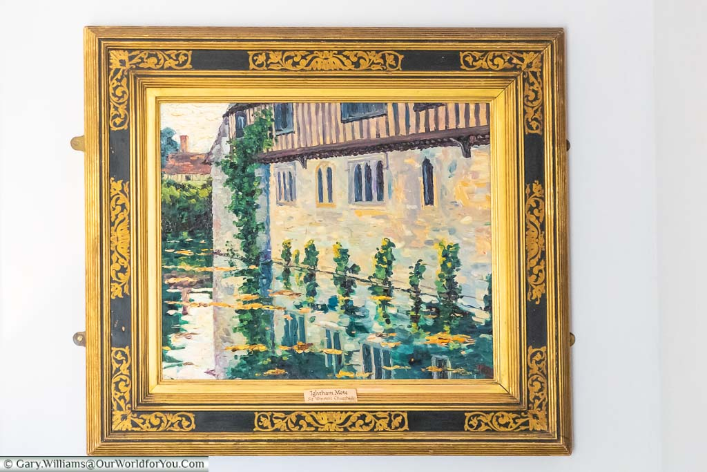 A picture of Ightham Mote painted by Winston Churchill