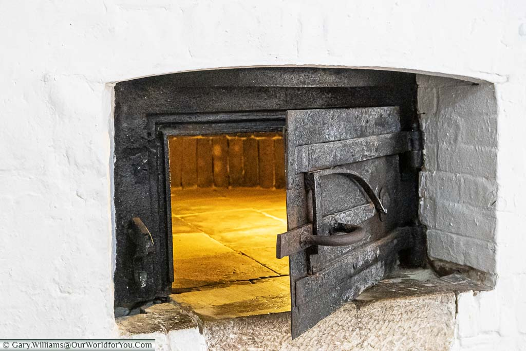 An iron door to an oven within the lower levels of Deal Castle