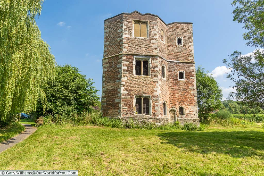 The red-brick tower, which was once part of the 14th-century Ashichbishops palace, also known as Otford Palace, stands alone.