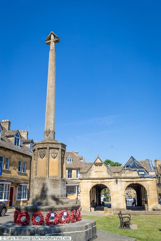 The war memorial, constructed from the same Cotswold stone as all the other buildings in Chipping Campden