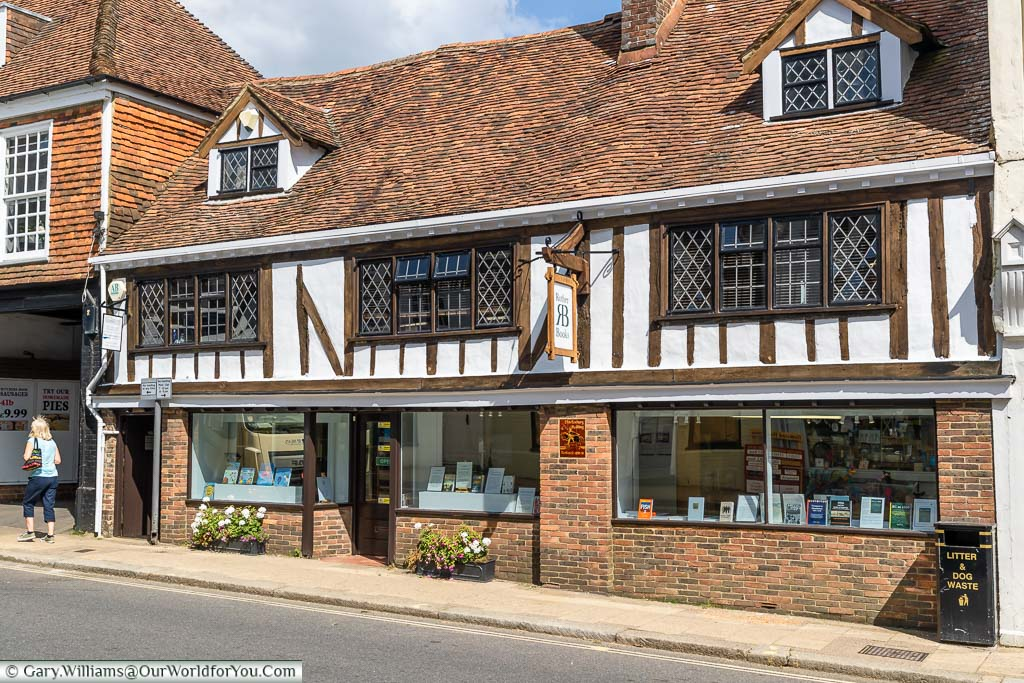A bookshop in a 15th century Tudor building on Battle High Street, East Sussex