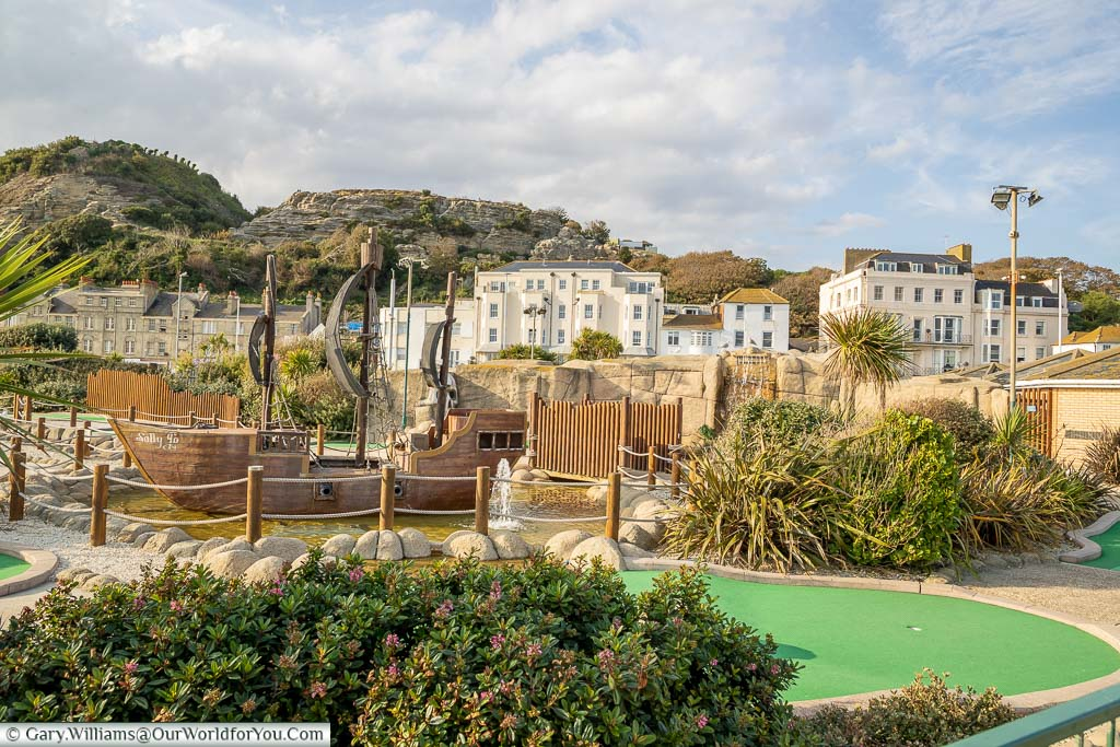 Hastings adventure golf course on the pleasure beach offering fun for all the family