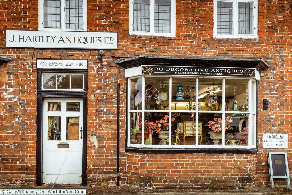 An antique shop next door to the Talbot Inn