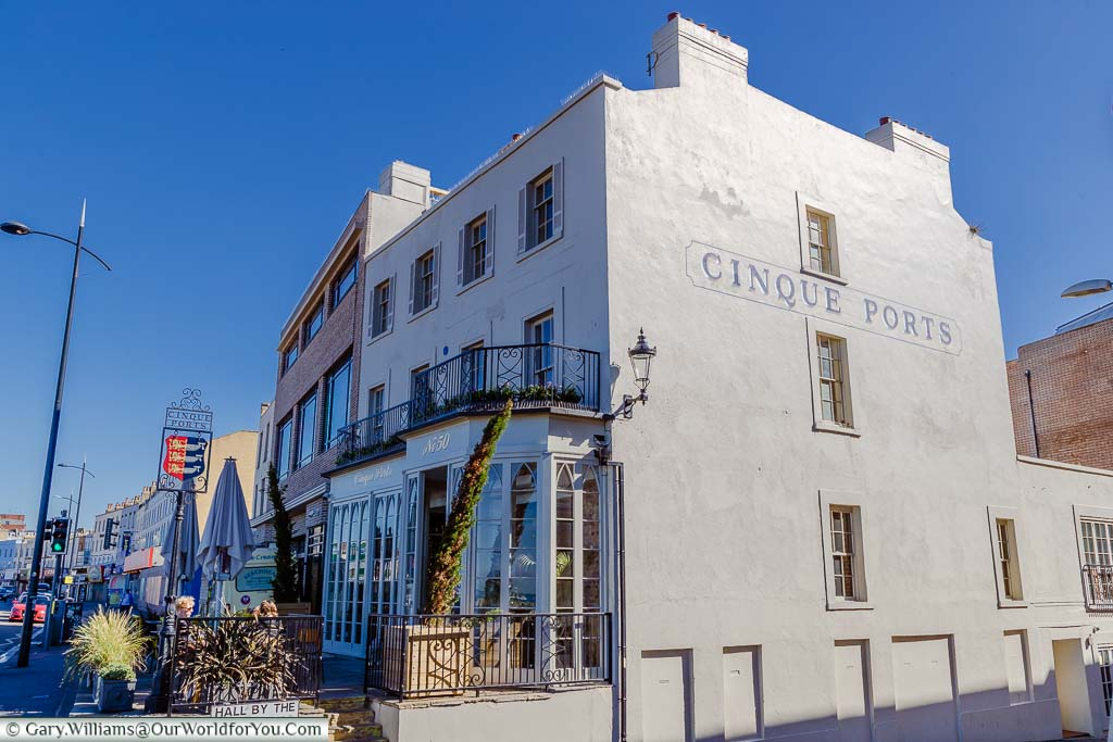 The exterior of the Cinque Ports Pub on Marine Terrace, Margate, Kent