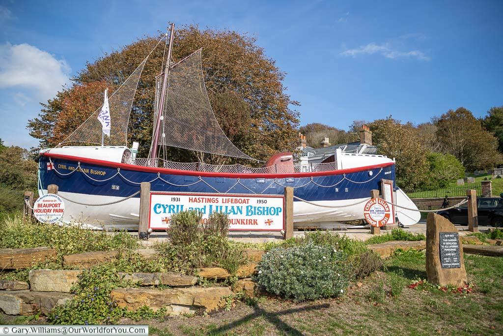 The Cyril and Lilian Bishop lifeboat, that was involved in the Dunkirk evacuation, mounted at the end of All Saints' Street as a memorial?