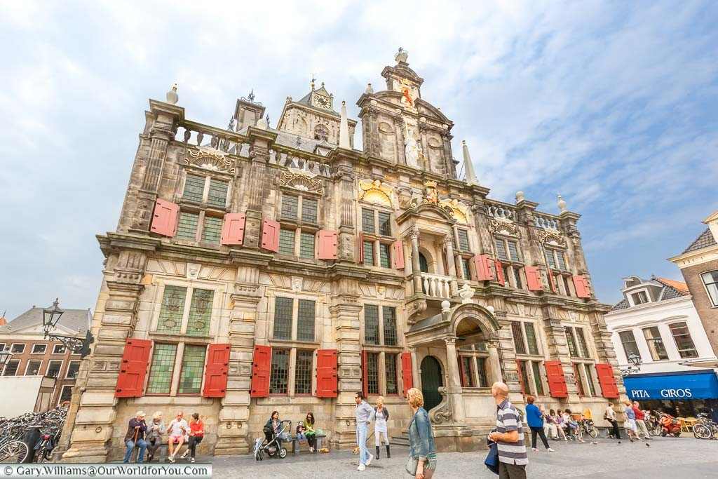 Delft's old town hall, of Stadhuis in the cities main market square