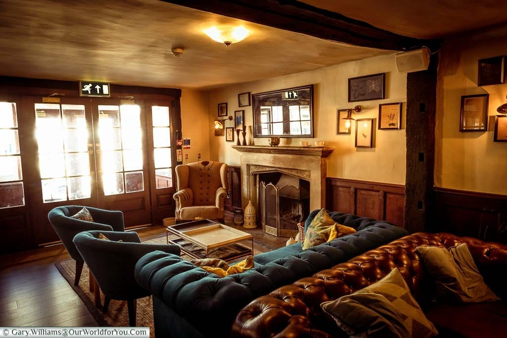 The lounge area of the White Horse Hotel, Dorking