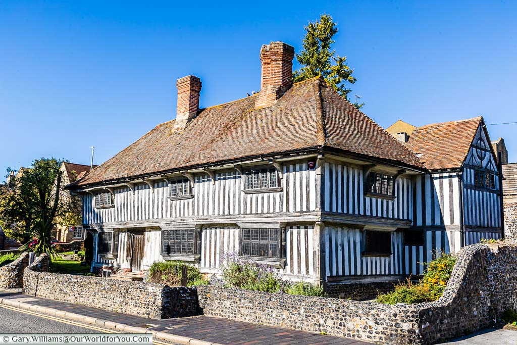 The 16th-century, two-storey timber-framed Tudor house in Margate, Kent