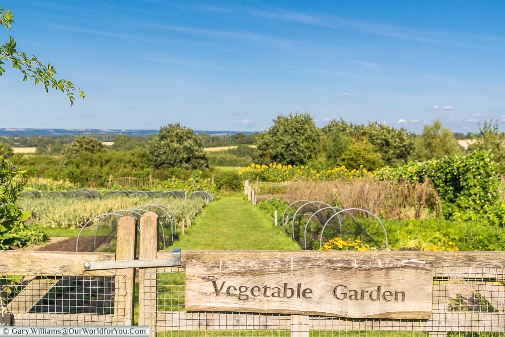 The gate to the vegetable garden at Sissinghurst Castle Garden, Kent, England