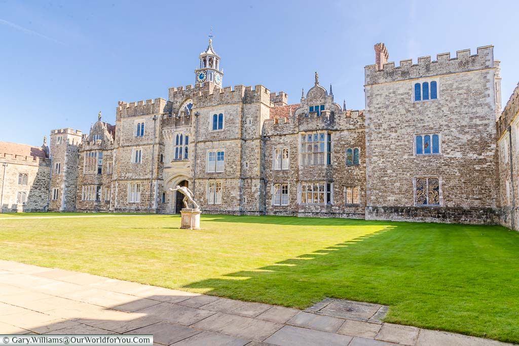 The first courtyard of Knole House known as Green Court