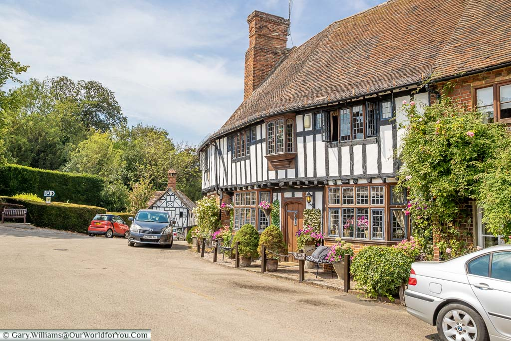 The Street in Chilham with its pretty half-timbered buildings