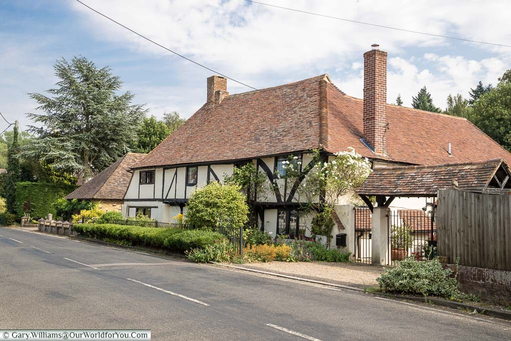 A large, half-timbered, home in Newnham, Kent